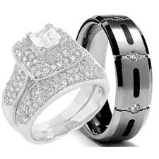 wedding bands sets his and hers cheap wedding sets kingswayjewelry