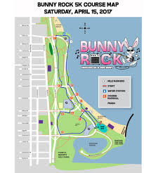 Chicago Race Map by Course Map Bunny Rock Chicago 5k And Egg Hunt