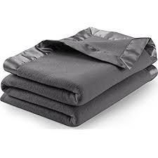 Polar Fleece Duvet Cover Amazon Com Sateen Polar Fleece Blanket Queen Grey Extra Soft