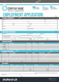 customizable employment job application template design stock