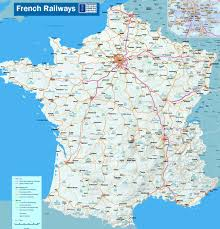 Map Routes by A Map Of French Railroad Routs It Includes High Speed Routes