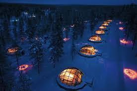 sleep under the northern lights glass igloo lets you sleep under the northern lights neatorama