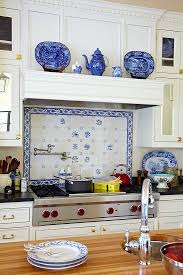 Beautiful Kitchen Backsplash Modest Plain Blue And White Kitchen Backsplash Tiles Beautiful