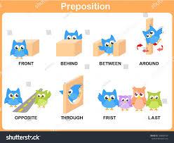 preposition motion preschool stock vector 168868154 shutterstock