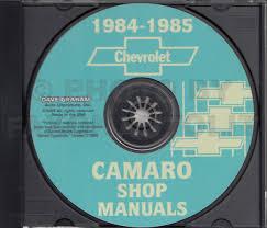 1982 1985 chevrolet camaro parts book cd rom