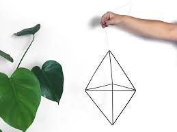 suspension origami diy diy une suspension géométrique en paille la pigiste blogue