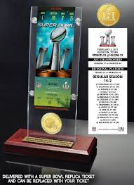 Desk 51 Super Bowl 51 Champions Ticket U0026 Bronze Coin Acrylic Desk Top