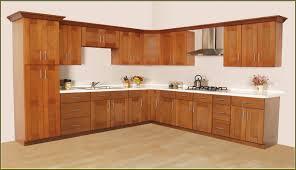 alder wood ginger shaker door in stock kitchen cabinets backsplash