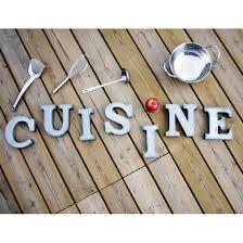 lettre cuisine deco lettre deco cuisine en zinc d athezza cuisine objets