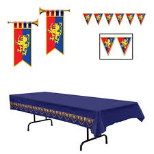 Medieval Decorations by 85 Off Medieval Party Decor Tablecloth Pennants U0026 2 Trumpet