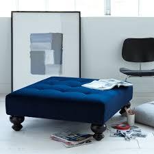 Black Velvet Tufted Bench Furniture Velvet Tufted Bench Ottoman With Black Curved Wooden