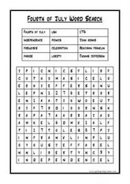 fourth of july word search independence day pinterest word