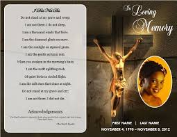 Templates For Funeral Program Free Funeral Program Templates Jesus Cross U0027 Bifold Funeral Card