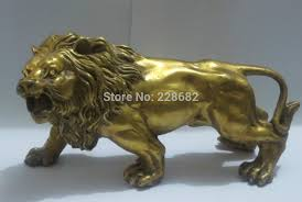 metal lion sculpture aliexpress buy metal crafts collectable home decorations