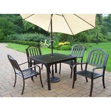 Patio Dining Sets With Umbrella 4 5 Person Patio Dining Furniture Patio Furniture The Home Depot
