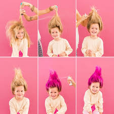 50 theme costumes hairdos 11 diy halloween hairstyles for you and your kiddos troll doll
