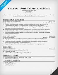 Example Simple Resume by Phlebotomist Resume Sample Sample Resume Format 26055 Plgsa Org