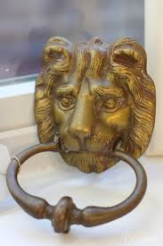 brass lion head door knocker picklee on spring