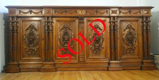 renaissance style enfilade antique cabinets item 9440 by m