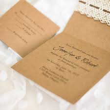 vintage lace wedding invitations affordable diy vintage rustic lace folded wedding invitations