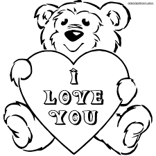 coloring download teddy bear with heart coloring pages teddy