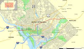 Washington Dc Area Map by U S Route 50 In The District Of Columbia Wikipedia