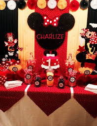Red Minnie Mouse Cake Decorations 248 Best Baby Minnie Mouse Birthday Images On Pinterest Mickey
