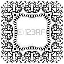 black frame with ornamental border royalty free cliparts vectors