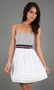 casual dresses xscape strapless short casual dress tops dress