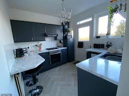 spray painting kitchen cabinets scotland time and upcycles kitchen for 100 in two