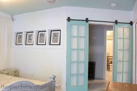 double bedroom doors upcycling idea reclaimed french doors on rolling door hardware