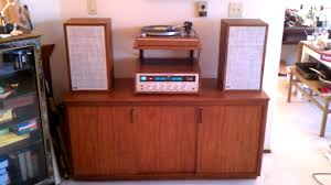 vintage on the shelf vintage stereo now with turntable shelf