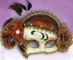 fancy mardi gras fancy masquerade mask gold creme mask in reds golds and