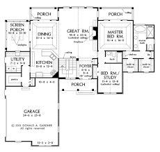 craftsman style house plan 4 beds 3 baths 2966 sq ft plan 929