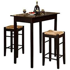 Pub Dining Room Set Amazon Com Casual Home 3 Piece Breakfast Set With Solid American