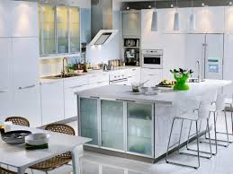 Gloss White Kitchen Cabinets Cabinets U0026 Drawer Modern White Kitchen Style Frosted Glass