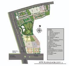 gaur city center site plan noida extension 9268 789 000
