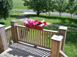 rustic flower box deck flower planter deck flower box