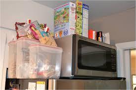 top of fridge storage stubborn oven