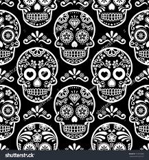 sugar skulls home decor mexican sugar skull vector seamless pattern stock vector 719310358