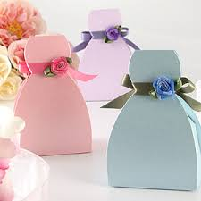 bridal shower gift bags bridesmaid dress favor boxes bridal shower favors