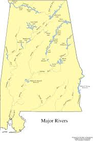United States Map With Rivers Lakes And Mountains by Alabama Outline Maps And Map Links