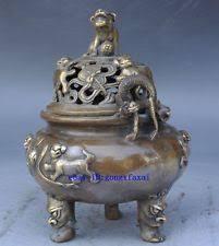 foo lion statue foo dog incense burner ebay