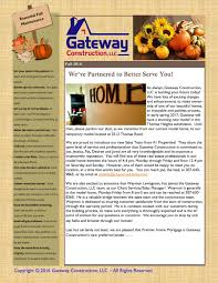 autumn news letter 2016 gateway construction