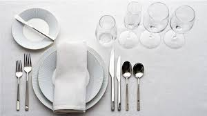 table setting western style homelife how to set a table