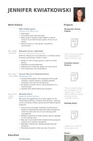 Resume Samples For Hospitality Industry by Real Estate Agent Resume Samples Visualcv Resume Samples Database