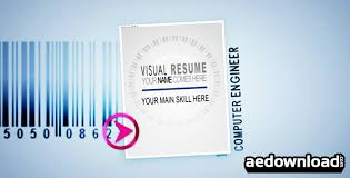 animated resume visual resume alpha animated curriculum videohive free after