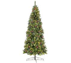 bethlehem lights prelit 7 5 canterbury slim tree qvc