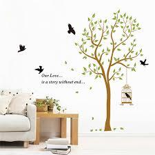 chambre pour amants citer notre histoire d amour sans fin diy arbre oiseaux fleur bébé
