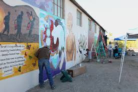 arizona diversions la above performance mural art and native american cuisine